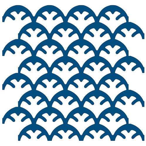 Cobalt Blue Coral Motif Pattern Tiles