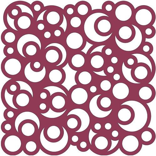 Raspberry Bubbles Motif Pattern Tiles