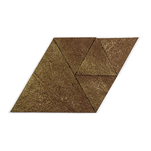 Brown Gold Triangle Cork Stone Tiles