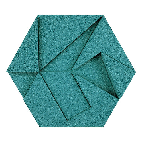 Turquoise Hexagon 3D Tiles