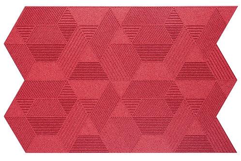 Red Geometric 3D Panels - 2.3 sqm box