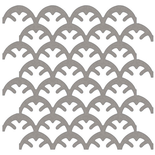 Cool Beige (Taupe) Coral Motif Pattern Tiles