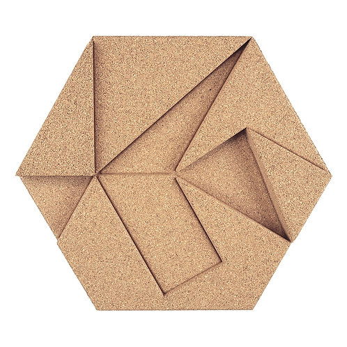 Ivory Hexagon 3D Tiles