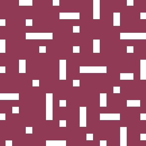 Raspberry No Touch Motif Pattern Tiles