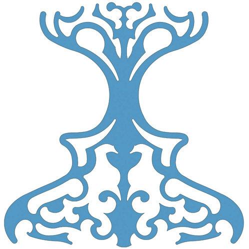 Aqua Blue Classic Motif Pattern Tiles