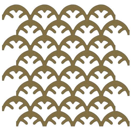 Gold Coral Motif Pattern Tiles