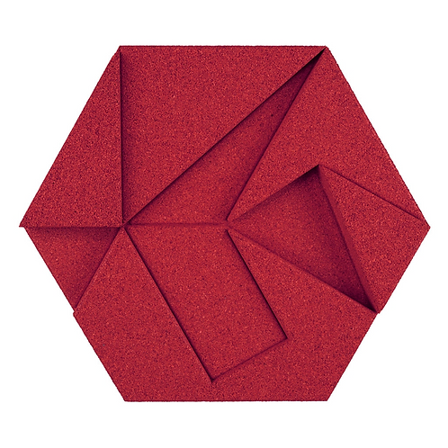 Red Hexagon 3D Tiles