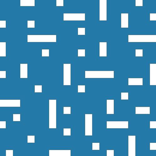 Matt Cyan No Touch Motif Pattern Tiles