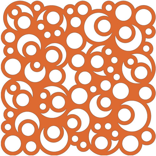 Orange Bubbles Motif Pattern Tiles