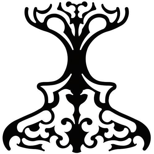 Black Classic Motif Pattern Tiles