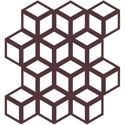 Chocolate Cinetic Motif Pattern Tiles