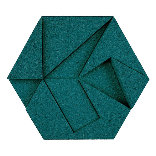 Emerald (Teal) Hexagon 3D Tiles