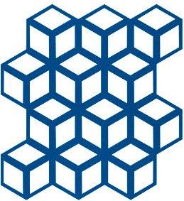 Cobalt Blue Cinetic Motif Pattern Tiles