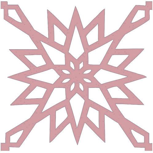Retro Pink Arabic Motif Pattern Tiles