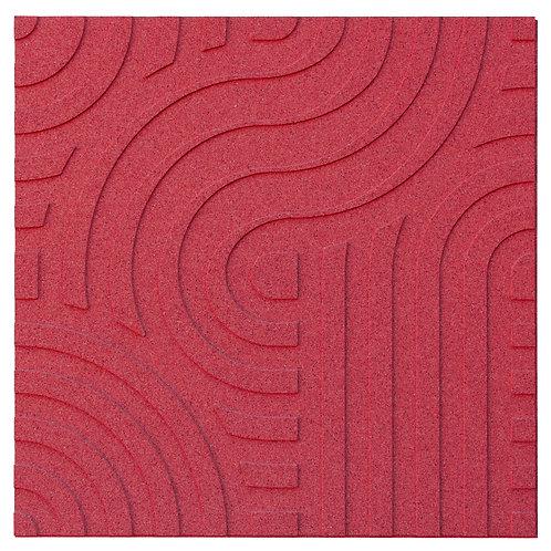 Red Wave 3D Panels - 2.53 sqm box