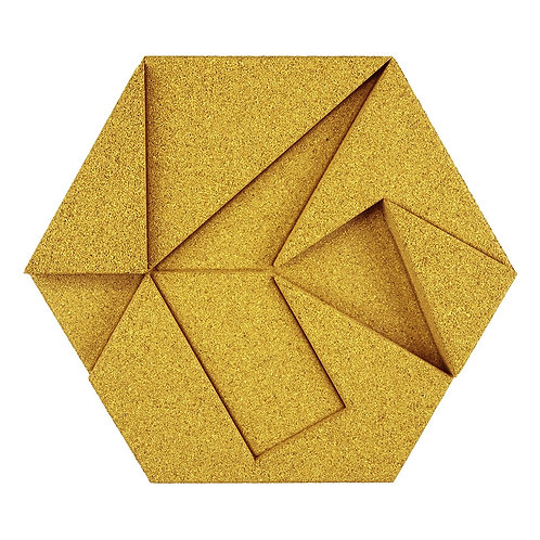 Yellow Hexagon 3D Tiles