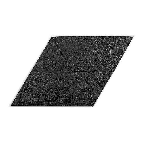 Black Metallic Triangle Cork Stone Tiles