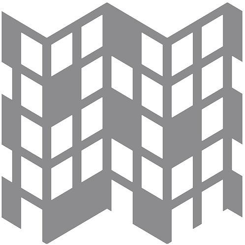 Cool Beige Perspective Motif Pattern Tiles