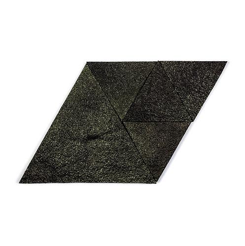 Black Gold Triangle Cork Stone Tiles