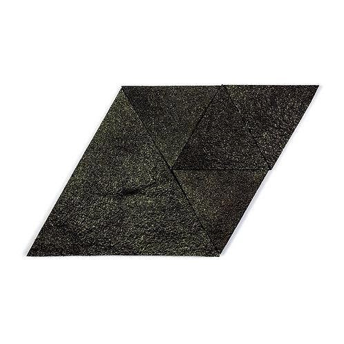 Black Gold Triangle Cork Stone Tiles
