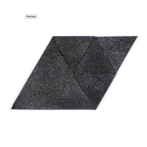 Black Silver Triangle Cork Stone Tiles
