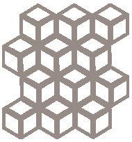 Cool Beige Cinetic Motif Pattern Tiles