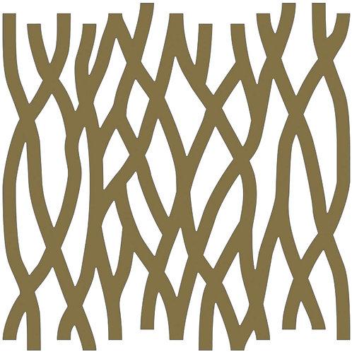 Gold Roots Motif Pattern Tiles