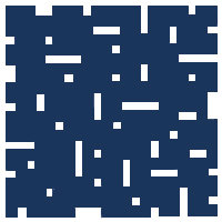 Navy Blue No Touch Motif Pattern Tiles