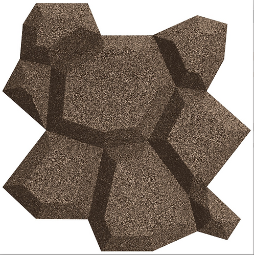 Taupe Beehive 3D Tiles