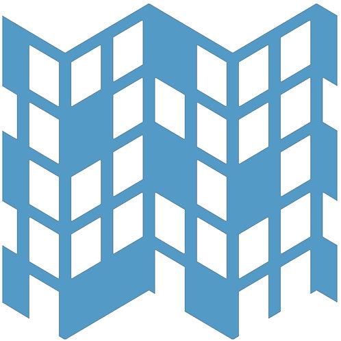 Aqua Blue Perspective Motif Pattern Tiles