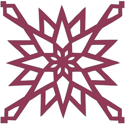 Raspberry Arabic Motif Pattern Tiles