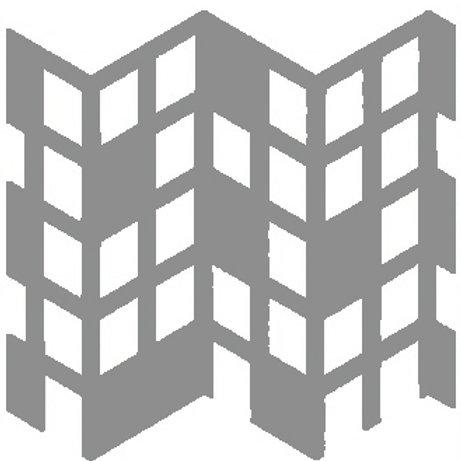 Silver Perspective Motif Pattern Tiles
