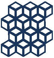 Navy Blue Cinetic Motif Pattern Tiles