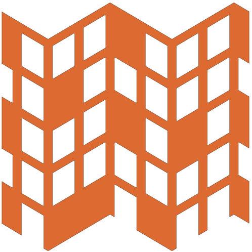 Orange Perspective Motif Pattern Tiles