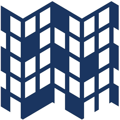 Navy Blue Perspective Motif Pattern Tiles