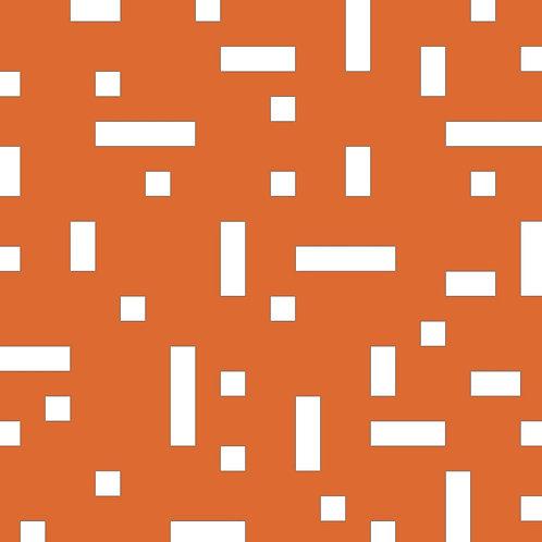 Orange No Touch Motif Pattern Tiles