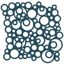 Deep Indigo Bubbles Motif Pattern Tiles