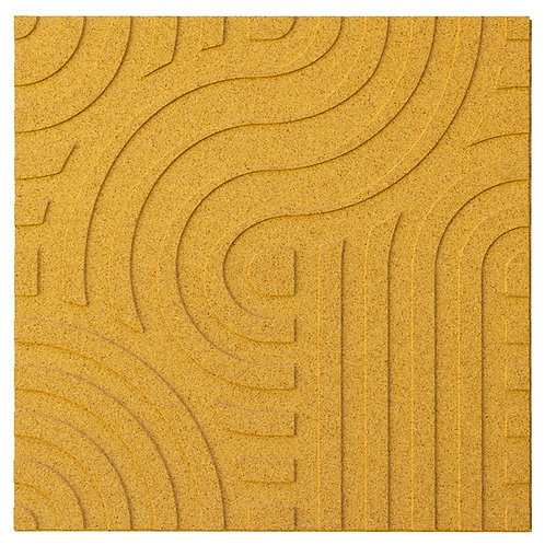 Yellow Wave 3D Panels - 2.53 sqm box