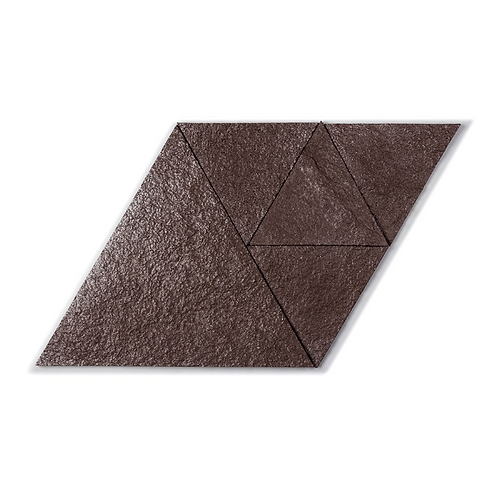 Brown Silver Triangle Cork Stone Tiles