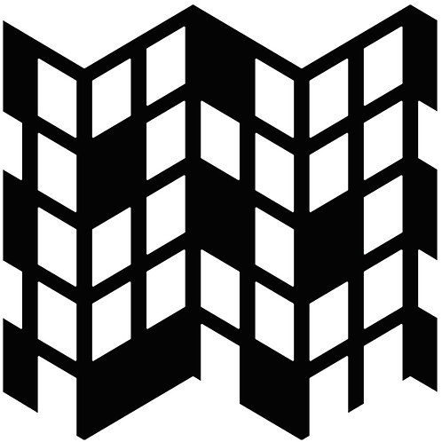 Black Perspective Motif Pattern Tiles