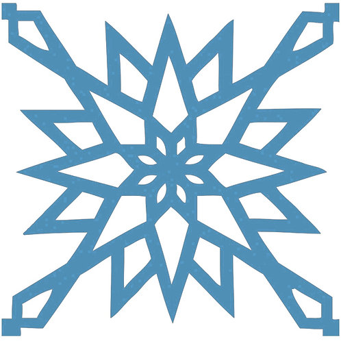 Aqua Blue Arabic Motif Pattern Tiles