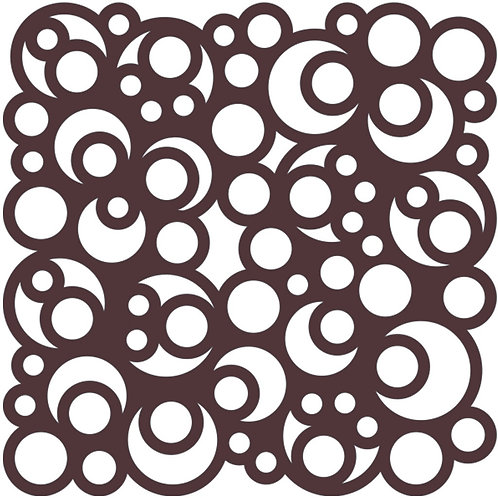 Chocolate Bubbles Motif Pattern Tiles