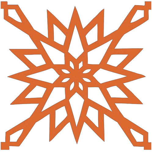 Orange Arabic Motif Pattern Tiles