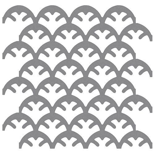 Silver Coral Motif Pattern Tiles