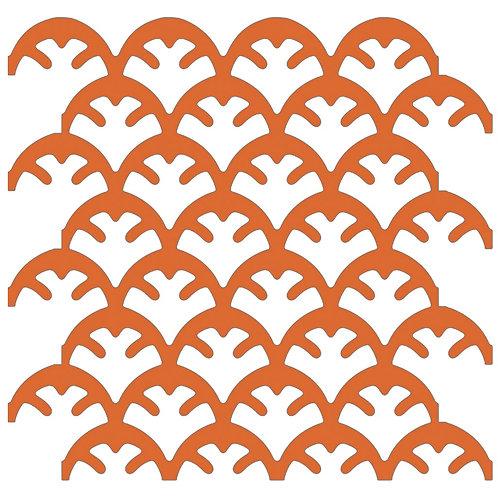 Orange Coral Motif Pattern Tiles