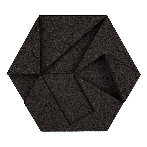 Black Hexagon 3D Tiles