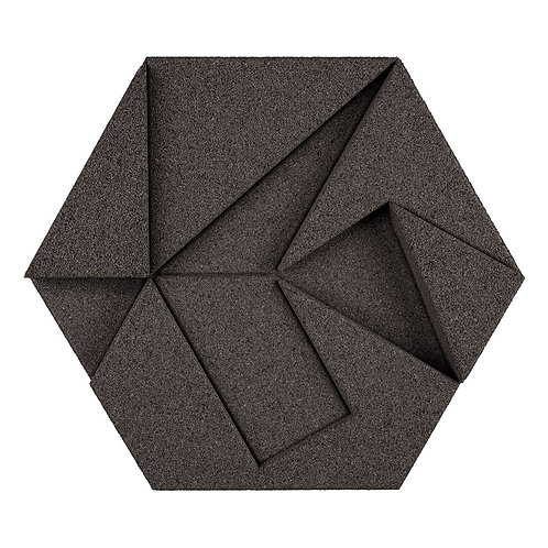 Grey Hexagon 3D Tiles