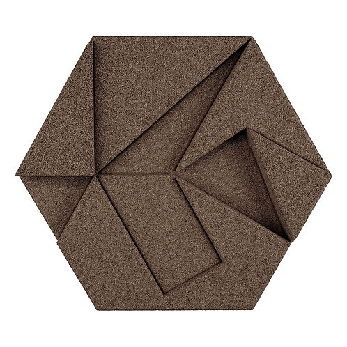 Taupe Hexagon 3D Tiles