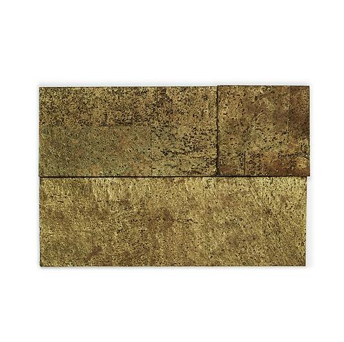 Brown Gold Cork Bricks