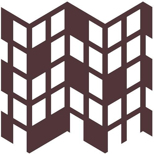 Chocolate Perspective Motif Pattern Tiles